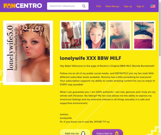 lonelywife BBW