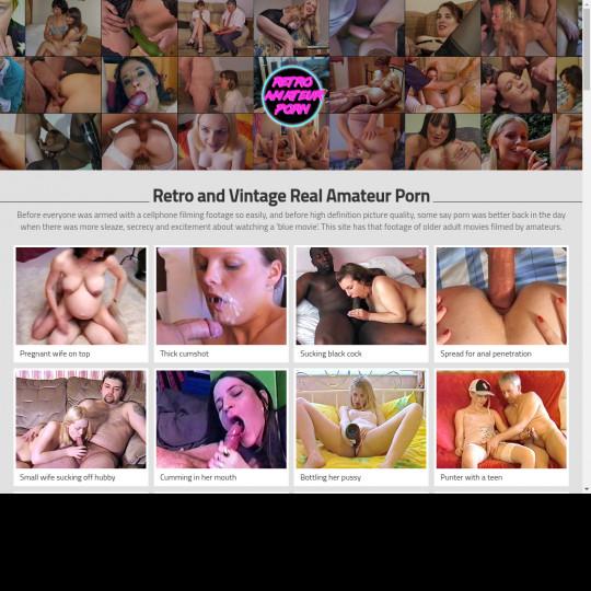 Retro Amateur Porn